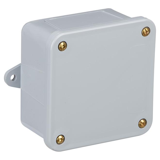 """Junction Box - PVC - 4"""" x 4"""" x 2"""""""