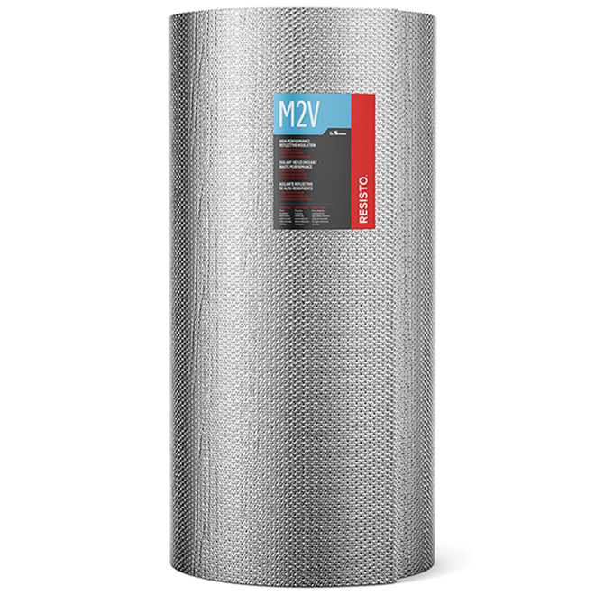 Isolant AYR-FOIL M2V en aluminium, 48 po x 125 pi
