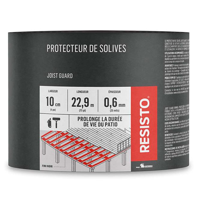 Resisto Protecteur Impermeable Pour Solives 4 Po X 75 Pi 10099