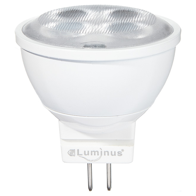 Ampoule DEL MR11 3 W, intensité non réglable, blanc brillant
