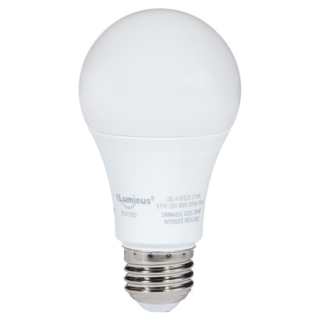 Ampoule DEL A19, 9,5 W, blanc chaud