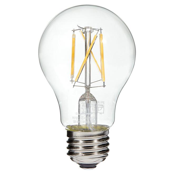 Ampoule à filament DEL, 7,5W/A19, blanc chaud