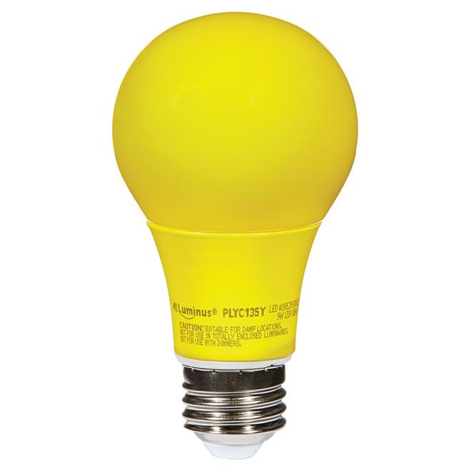 Ampoule DEL A19, 9 W, jaune