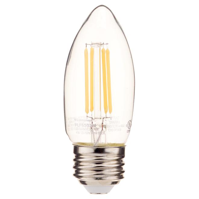Ampoule DEL, B10-E26, blanc chaud