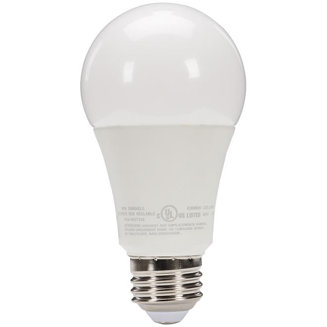 Ampoules DEL A19, 15W, non réglable, blanc chaud, 2/pqt