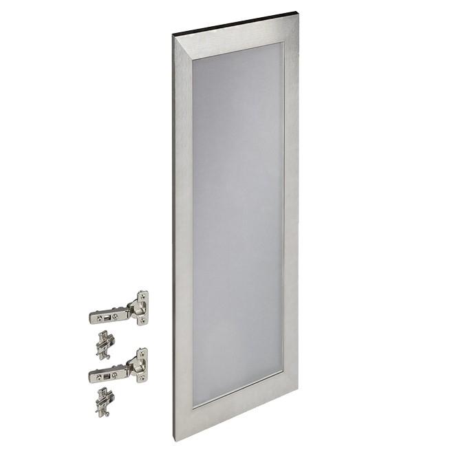 "Porte d'armoire de cuisine, 12"" x 30"", aluminium"