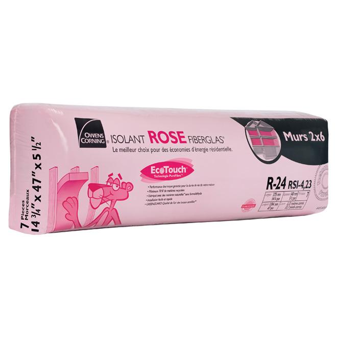 Isolant ROSE FIBERGLAS® EcoTouch® R-24