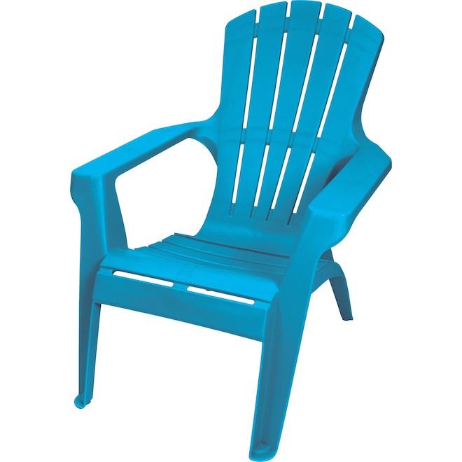 Gracious Living Adirondack Chair - Teal - Resin - Stackable