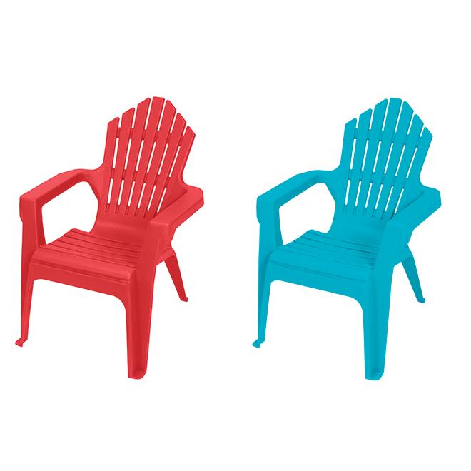 Chaise Adirondack pour enfant, résine, couleurs variées