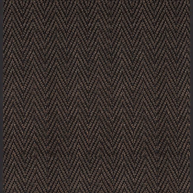 Tapis pour couloir «Herrington», polyester, 36'' x pied linéaire, brun