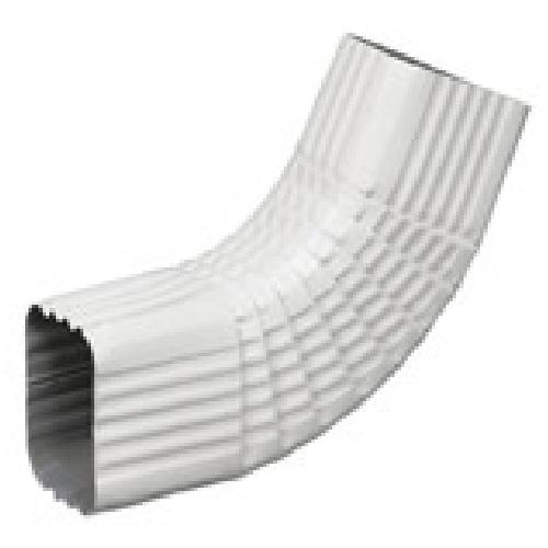 "Aluminium Square Corrugated Side ""B"" Elbow - White"