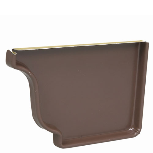 """Capuchon d'extrémité droit en aluminium 5"""", brun"""