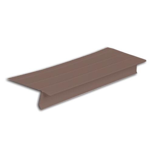 "Larmier de 5"" en aluminium, brun"