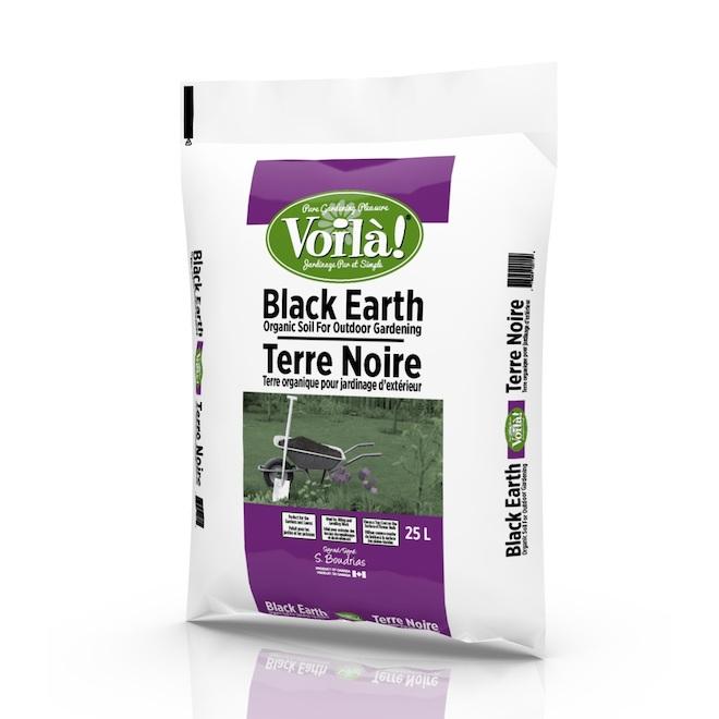 Voila Black Earth - Organic Soil - 25 L