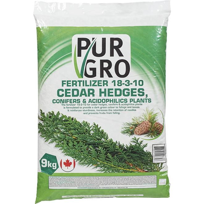 Pur Gro Cedar Hedge Fertilizer - 18-3-10 - 9-kg