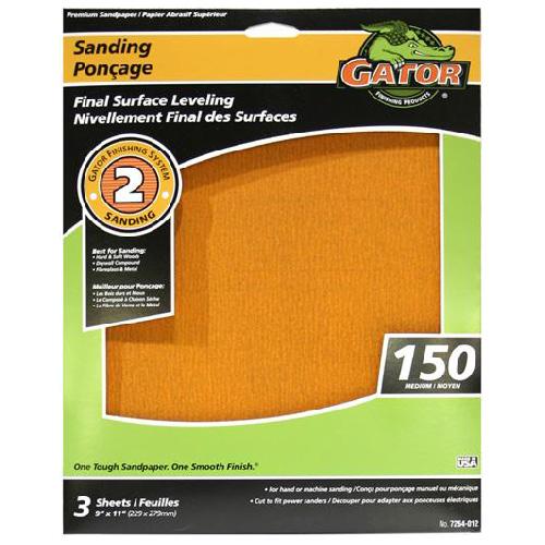 Premium Sandpiper - 9 x 11-in - 150 Grit - Orange - 3-Pack