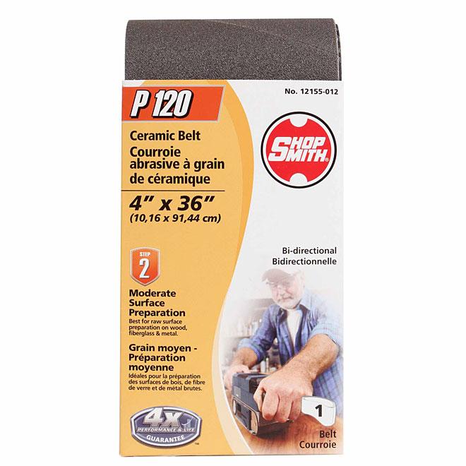 "Sanding Belt - 4"" x 36"" - 120 Grit"