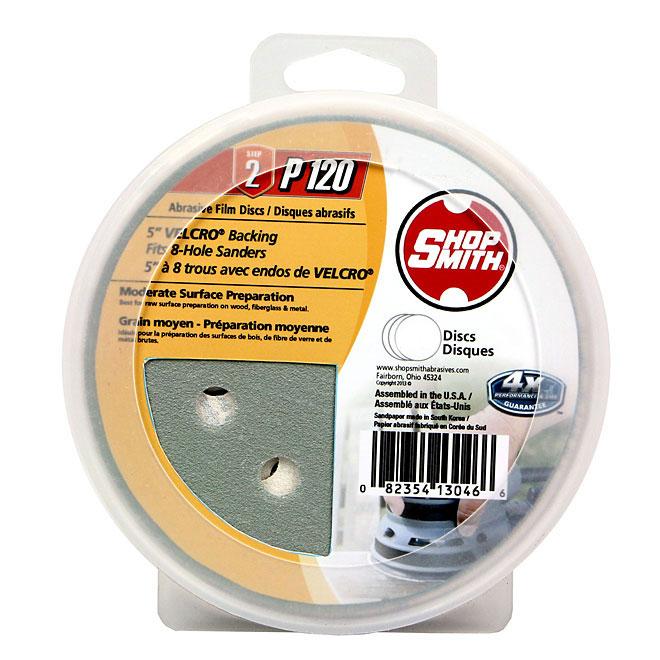 """5"""" Abrasive Disc - 120 Grit - 15-Pack"""