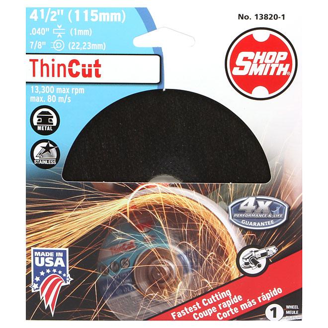 "Metal Cutting Wheel - ThinCut - 4 1/2"""