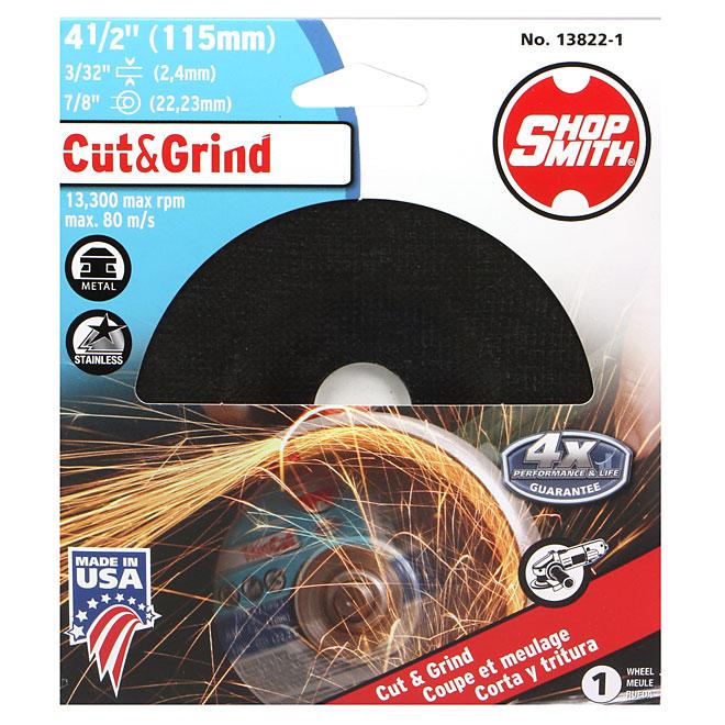 """Metal Cutting Wheel - Cut&Grind - 4 1/2"""""""