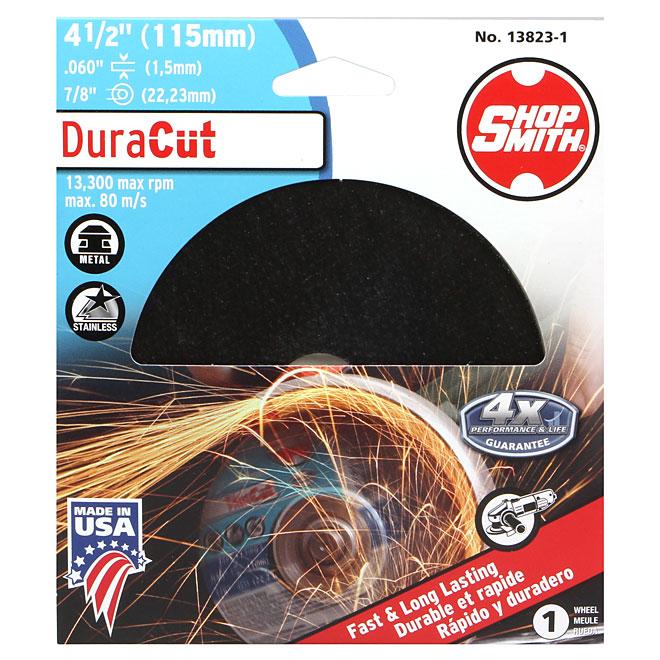 "Metal Cutting Wheel - DuraCut - 4 1/2"""