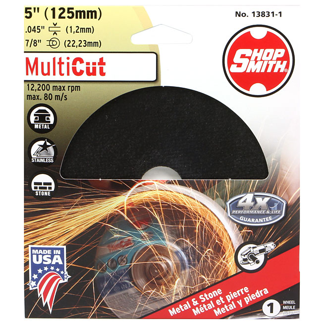 """Cutting Wheel - MultiCut - 5"""""""