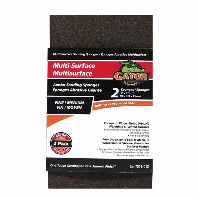 Éponges abrasives multi-surfaces, fin/moyen, pqt/2