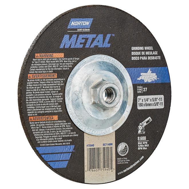 """Metal Depressed Centre Grinding Wheel - 7"""""""