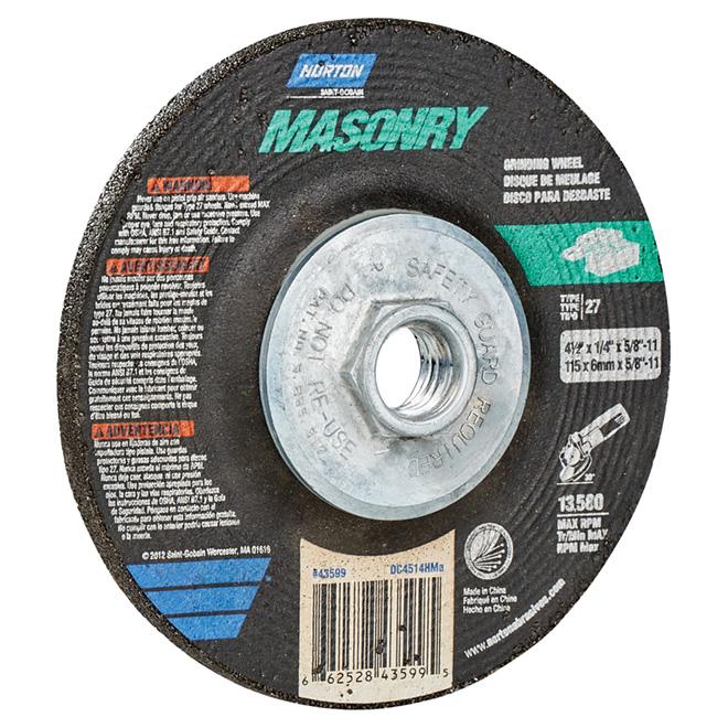 "Masonry Depressed Centre Grinding Wheel - 4.5"""