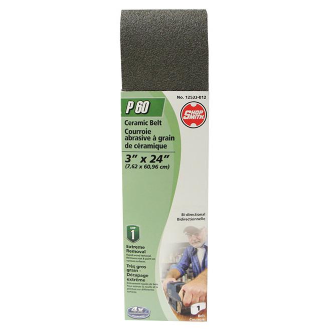 "Sanding Belt - 3"" x 24"" - 60 Grit"