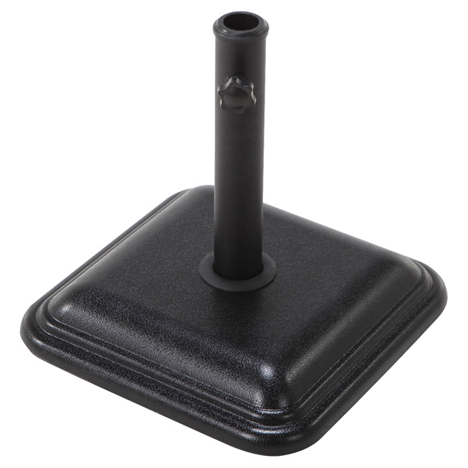 "Square Patio Umbrella Base - 13 7/8"" - Black"