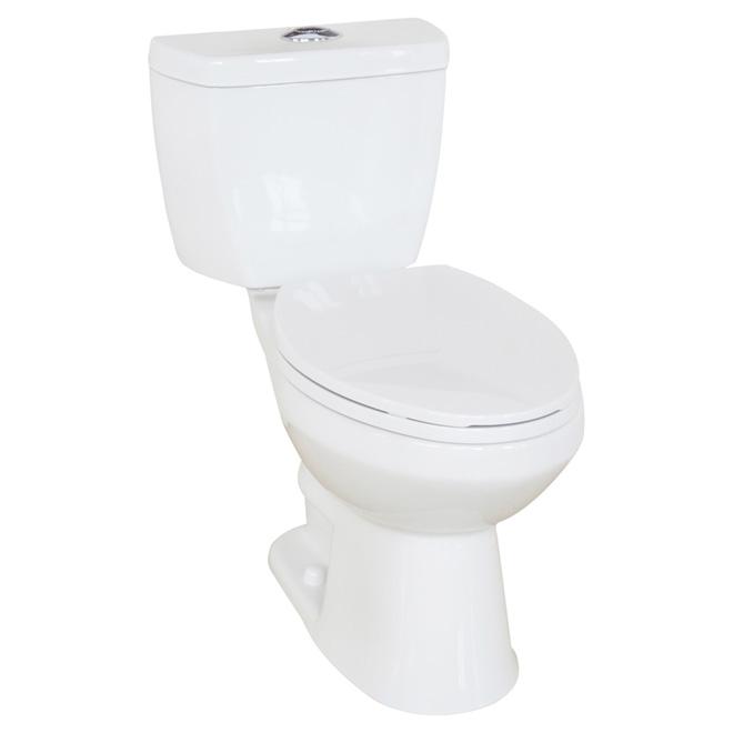 Toilette 2 pièces à cuve allongée, Evalin, 4 l/6 l, blanc