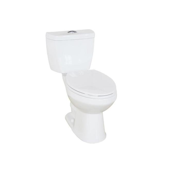 Project Source Evalin 2-Piece Toilet - Dual Flush - 4.1/6 L - White