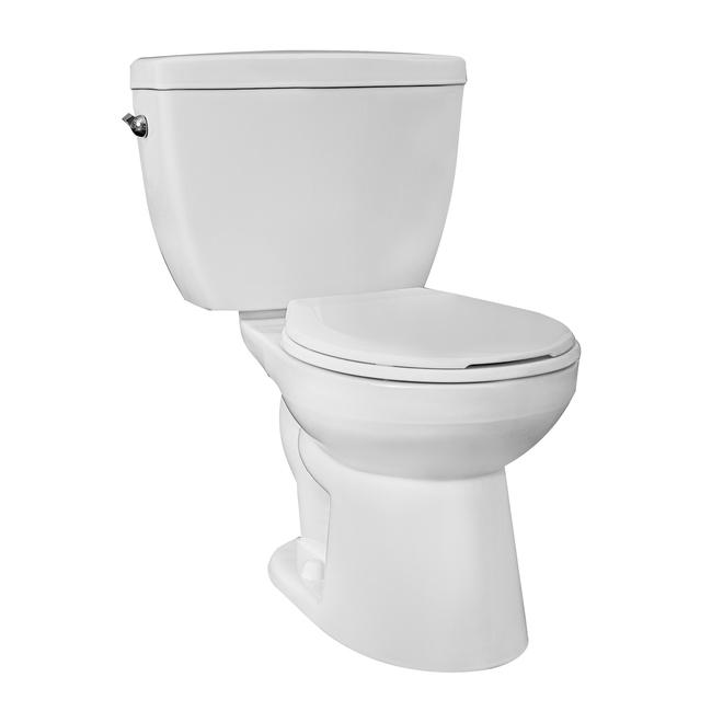 Toilette 2 pièces Minuet Project Source, cuvette ronde, 6 l, blanc