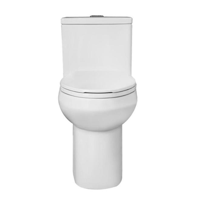 Project Source Lynton 1-Piece Toilet - Elongated - 3 L / 4.8 L - White