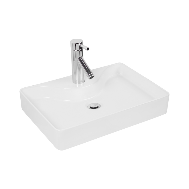 Foremost Atessa Vessel Sink - FFC - 14.75-in x 20.5-in x 4.75-in - White