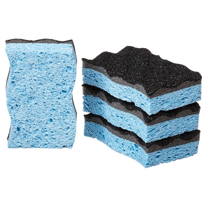 """Heavy-Duty Scrub Sponge - """"Scrunge"""" - 4-Pack"""