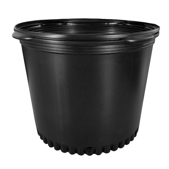 Pot de production moulé, Planters Pride, Résine 7 gallons noir