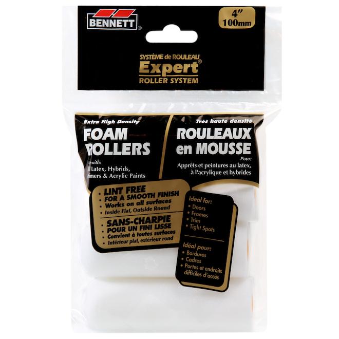 """""""Expert"""" Round Foam Roller Refills - 4"""" - 4-Pack"""