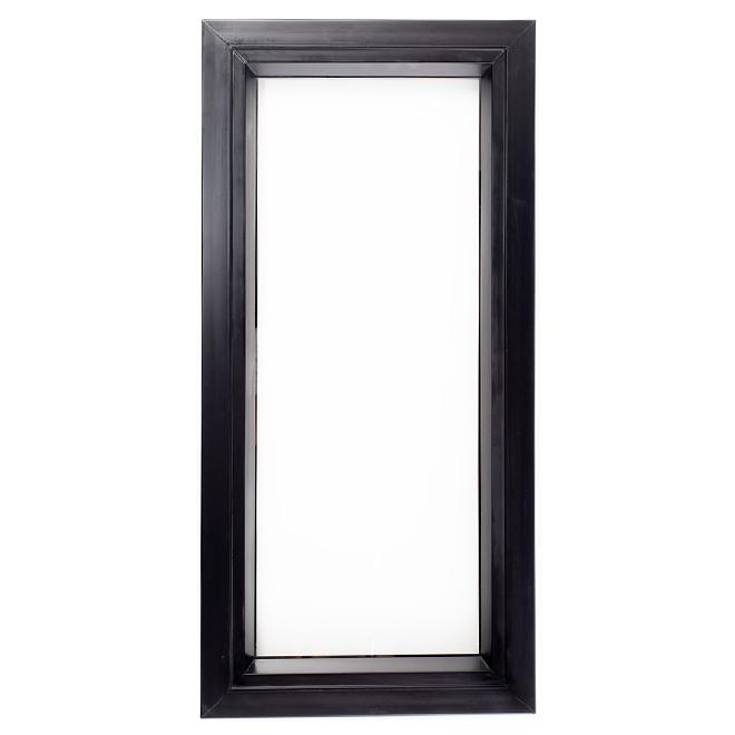Fixed Shed Window - PVC - 17'' x 35'' - Black