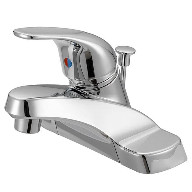 Bathroom Faucet - 1 Lever Handle - 4'' Centre Set - Chrome