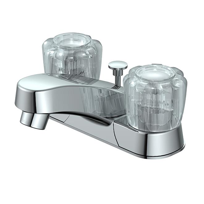 Bathroom Faucet - 2-Handle - 4'' Centre Set - Chrome