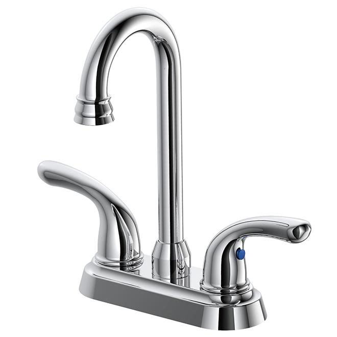 Bar Faucet - 2 Levers - Chrome Finish