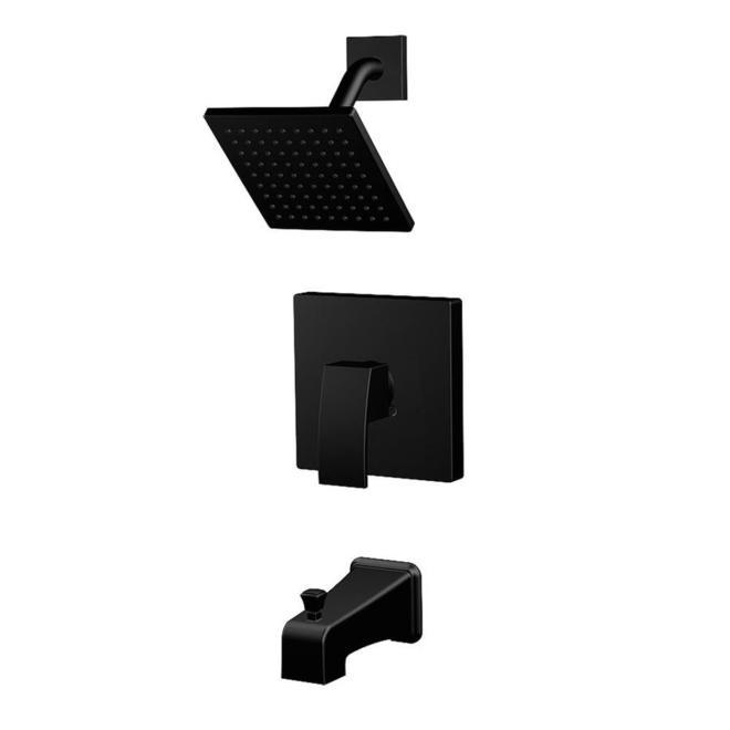 Allen + Roth Amari Tub and Shower Faucet - 1 Handle - 6.8-L/min - Matte Black