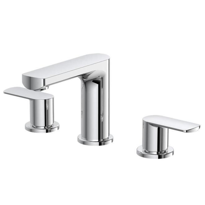 Robinet de salle de bain Primo à 2 poignées Allen + Roth, chrome