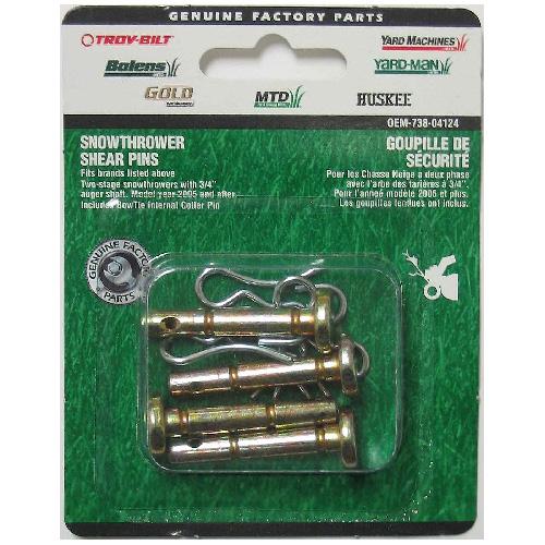 Snowblower Shear Pin - 2'' x 7/16'' - 4/Pack
