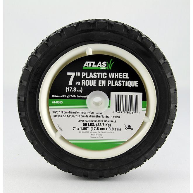 "Universal Plastic Wheel - 7"" x 1 1/2"""