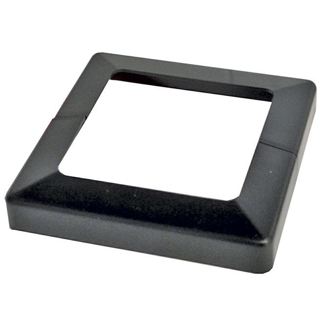 """Plakcap Cover Base 4 x 4"""" - Black"""