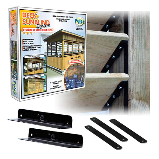 Pylex Deck Sun Blind System - Hardware