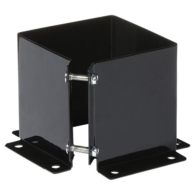 Base de fixation, 6'' x 6'', acier, noir